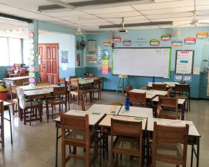 One of the classrooms where we served.