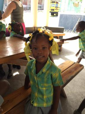 A sweet girl at the JAK Christian Academy.