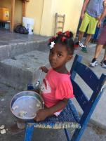 A sweet girl at the orphanage run by Mission Haiti.